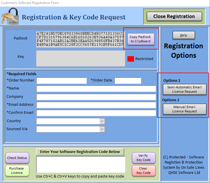 Software Registration Form