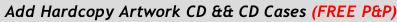 Add Hardcopy Artwork CD && CD Cases (FREE P&P)